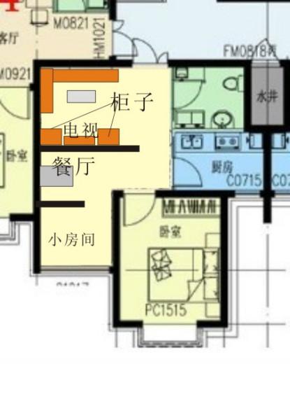 求小户型装修设计方案,40平米左右,平面图已给出,希望空间被高清图片
