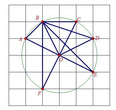 正方形网格中画一个等腰三角形def,是它的腰长为根号5图片