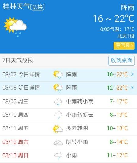 湖北桂林天气预报15天+