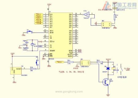 单片机驱动气缸电路图怎么画?还有单片机能控制气缸在图片