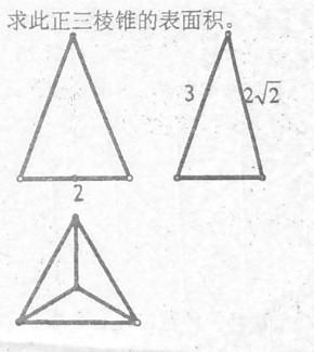一个正放的三棱锥的三视图如图 俯视图三个小三角形全等,求此三棱锥的图片