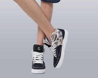 天猫上的森马男模特的高帮板鞋是什么牌子?图片