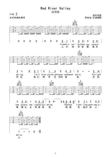 求吉他谱简单好听的英语流行歌,急!图片