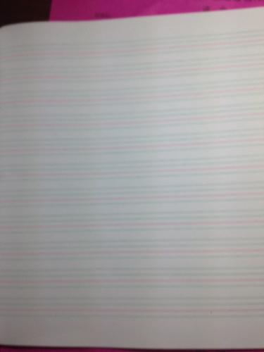 三线格子纸英语就图片如视得吗?这不是四线格子吗?三线是第二张图吗?图片