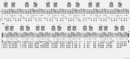 求打扰一下乐队的平凡之路吉他谱图片
