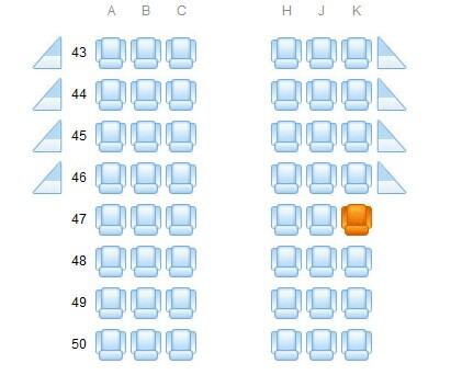 南航空客320选哪个座位不会挡风景?图片