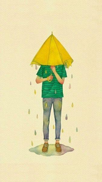 打伞卡通情侣头像 求另一张 女生的