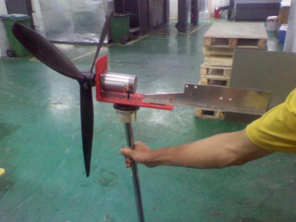 淘宝买了个小发电机做风力发电机 但是磁阻有点大 ...