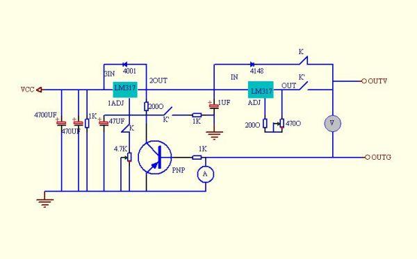 317稳压电路 317端稳压电路 lm317扩稳压电路 莫成图片网图片