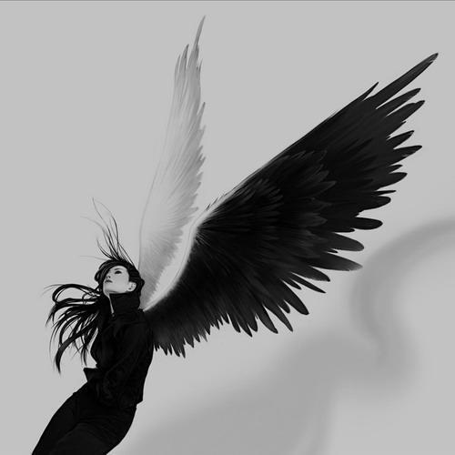 天使天使翅膀 天使翅膀画法 卡通天使翅膀简笔画 折断翅膀的天使