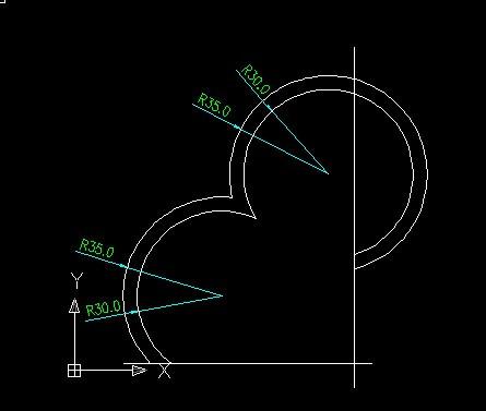 如图这个是用倒圆角画出来的么 求用cad画出来的详细步骤