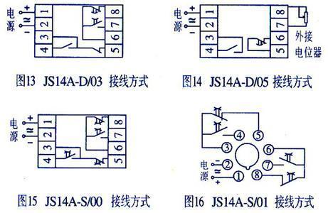 js14a控制一个220v的电磁阀1 2为电源进线怎样接控制线和负载图片