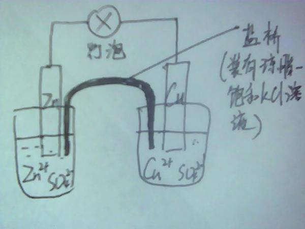 左烧杯:Zn放入ZnSO4溶液中是什么目的?锌原子