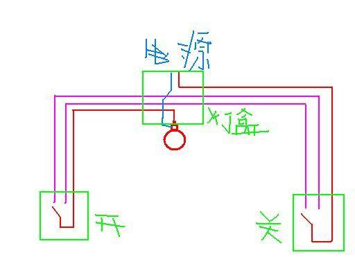 怎样用双回路两个开关同时控制一盏灯我要电路图 ...