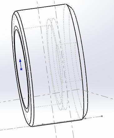rks2012如何在圆柱面上做异型孔特征 在如图所示的圆柱侧面上要图片