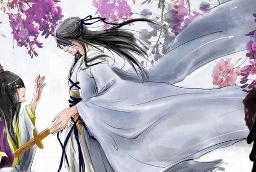求古风动漫图,男子持剑杀了女主图片