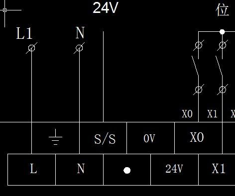 三菱plc和电磁阀及接近开关怎么画外部接线