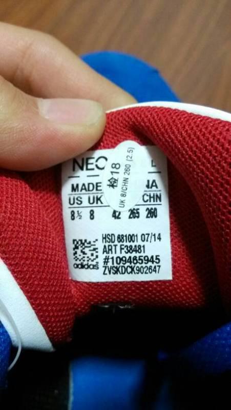 阿迪达斯neo的鞋子,求看鞋标看是不是正品
