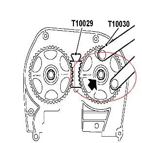 0029!   华泰圣达菲1.8t发动机先把曲轴转到一四缸上止点!   高清图片