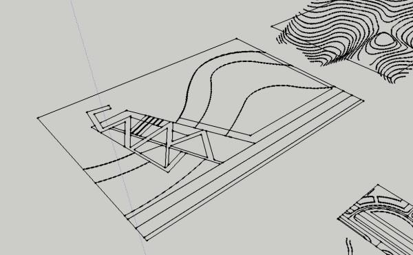 我在将cad的dwg模型导入到sketchup里时。两cad框图文件在布局图片
