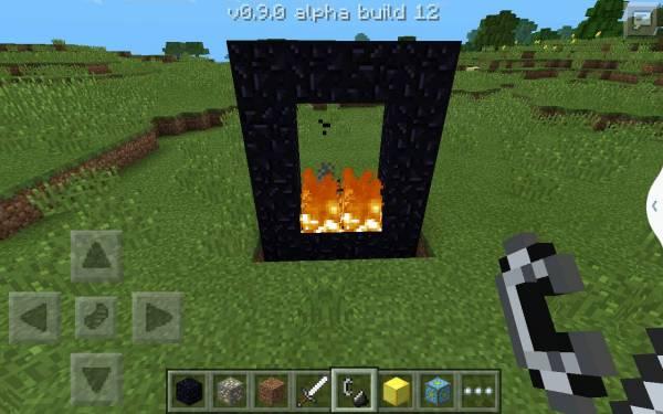 我的世界创造模式怎么做地狱门 为什么图上我用打火石把黑曜石里面点图片