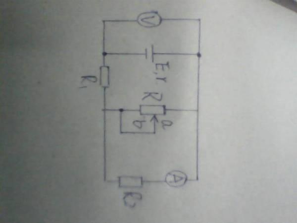 电动势为E,内阻为r的电源与定值电阻R1,R2及滑