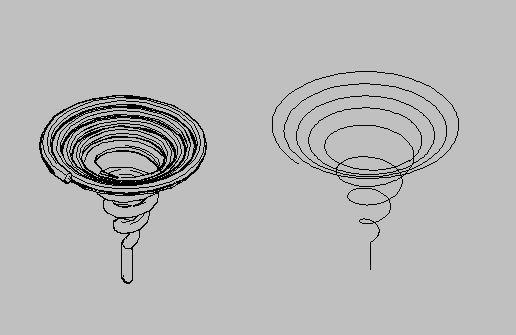 ... 画 个 椭圆 形 锥 状 弹簧 不 知道 怎么 画 求 高手