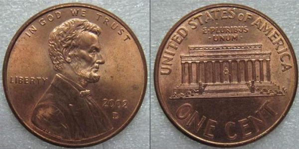 美国一分钱硬币是什么样的?