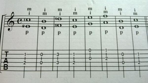低音谱号的样子如下图,你可以对比一下.图片