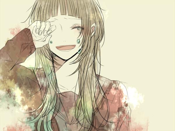 求动漫女生笑着哭(很敷衍)的表情~_百度知道