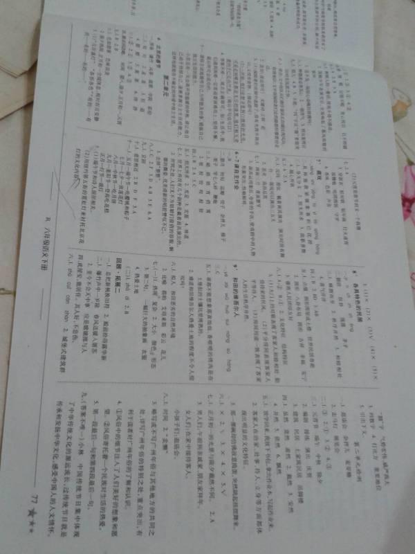 六年级下册黄冈小状元达标卷语文第二页答案