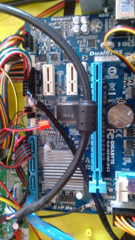 技嘉主板H61 DS2 3 插线问题,一体机自带音频 喇叭 提示无连接图片
