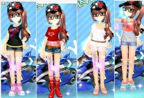 QQ飞车求一套好看的女服装图片