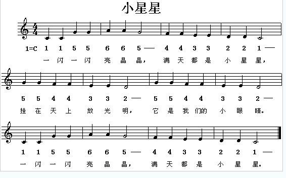 求汪苏泷的《小星星》和《巴赫旧约》的钢琴五线谱图片