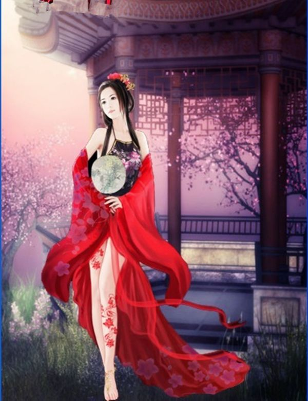 红衣古代女子行刑
