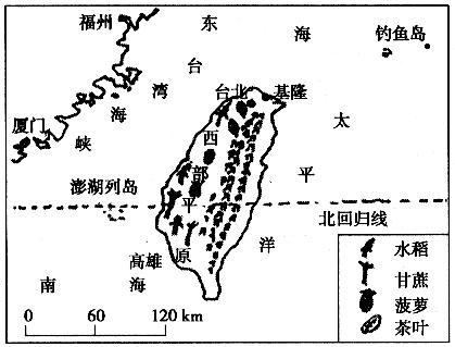 小xoo台湾图_读台湾地区图,根据图 读台湾地区图,根据图中提供的信息,简要回答下列
