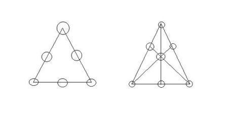 如果给你7颗棋子,让你们把它摆成6行图片