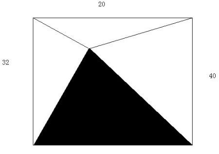 如下图,正方形abcd中三个三角形的面积分别是32平方厘米,20平方厘米,4图片