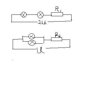 一个电源与电阻串联后与另外讲个电阻并联,等效电路图图片