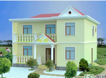 农村房屋设计效果图 农村3层别墅房屋设计效果图和