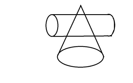 圆锥横加圆柱的几何体怎么画 素描初学图片