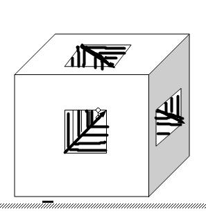 如图,在棱长为3的正方体中,由上到下,由左到右,由前到图片