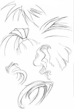 漫画素描的头发怎么画顺图片