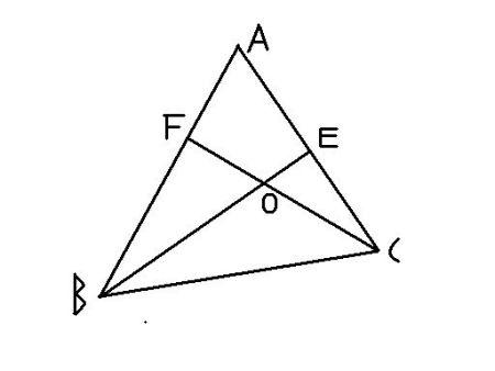 如图,已知△abc是锐角三角形,且∠a=50,高be,cf相交于图片