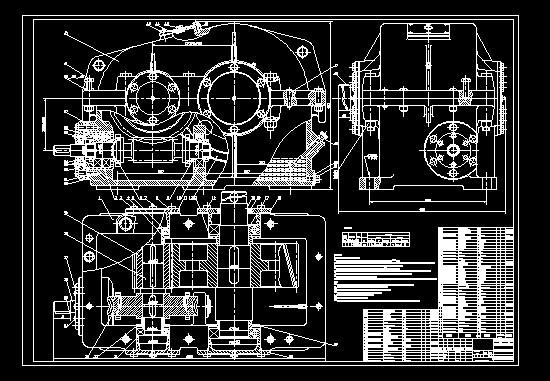 蜗轮蜗杆减速器的设计,cad图纸,solidworks图图片