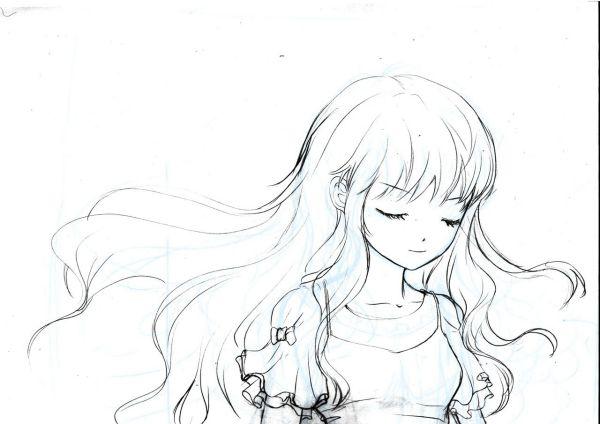 手绘简单铅笔画人物图图片