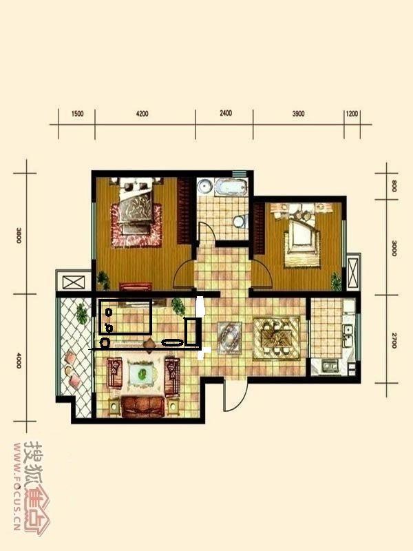 两室两厅改三室一厅,家里有老人 高清图片