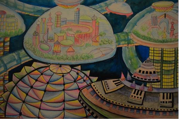 六年级获奖科技画分享展示图片