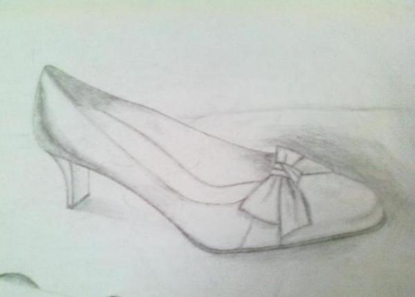 素描鞋子高清 鞋子创意素描 创意鞋子设计素描图片
